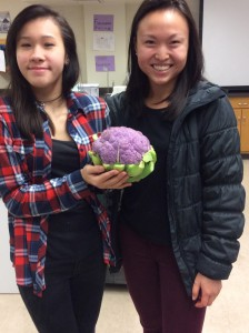 Whitney (maker of beets and beholder of the purple cauliflower) and Tiffany (FEEST volunteer)