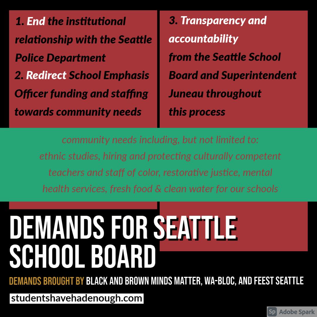 Demands for the Seattle School Board
