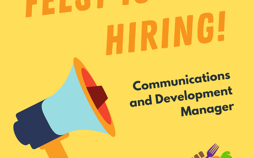 Now hiring: Communications and Development Manager